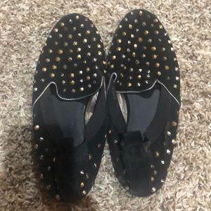 Yosi Samra Ariel Suede Studded Loafer Size 7